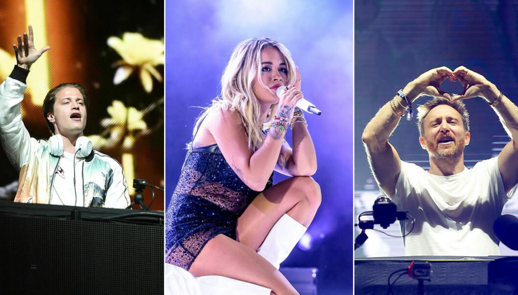 Hyllningskonsert för Avicii, David Guetta, Rita Ora och Kygo.