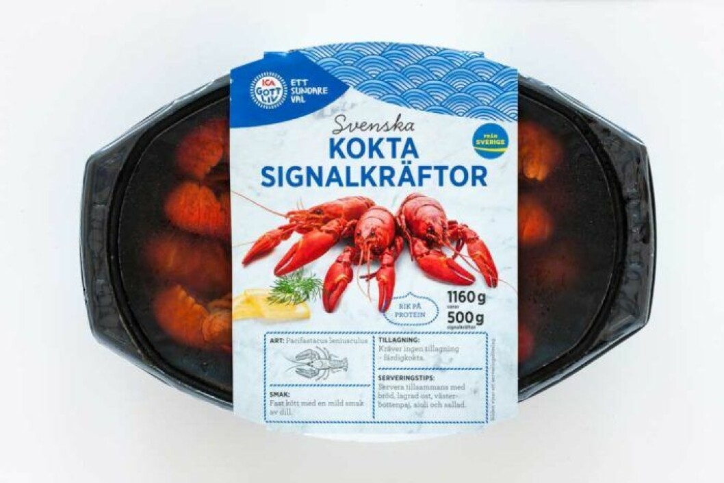 Ica ett sundare val svenska kokta signalkräftor