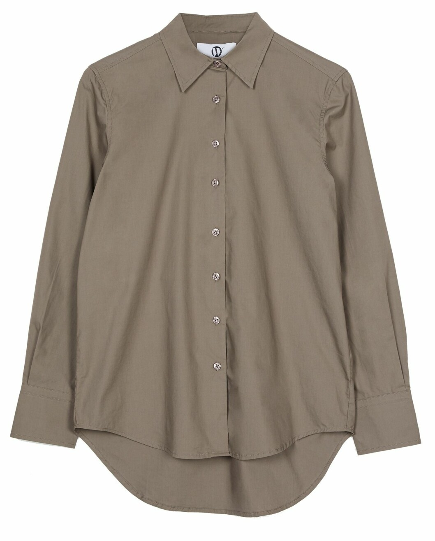 Oversized skjorta i beige