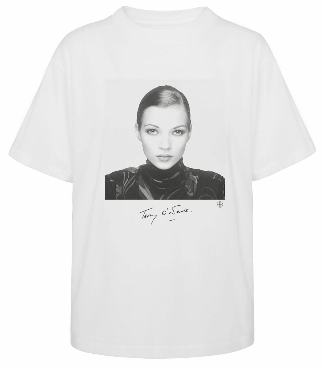 vit t-shirt med Kate Moss från ANINE BING x Terry O'Neill