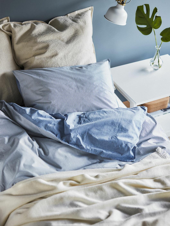 Påslakan i blått från Ikea