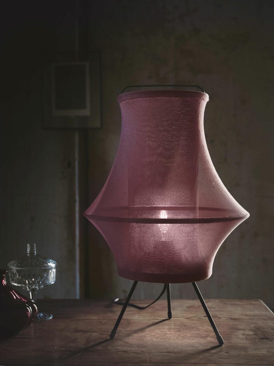 Lila lampa från Ikea hösten 2020