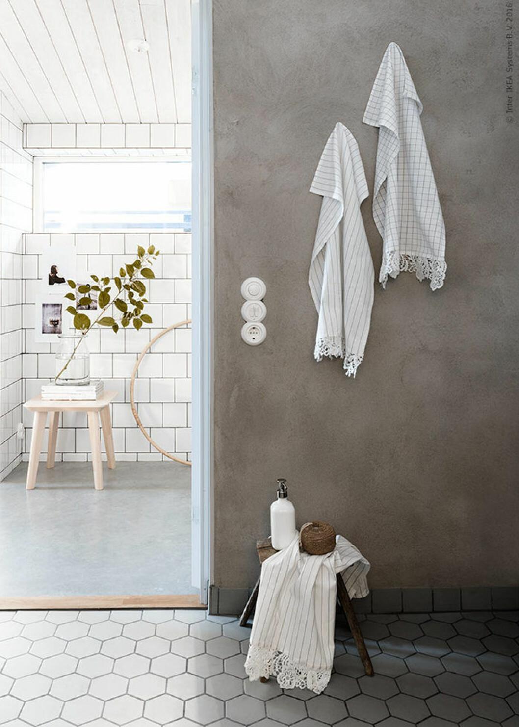Ikea hack – DIY-dekorera dina handdukar med spets
