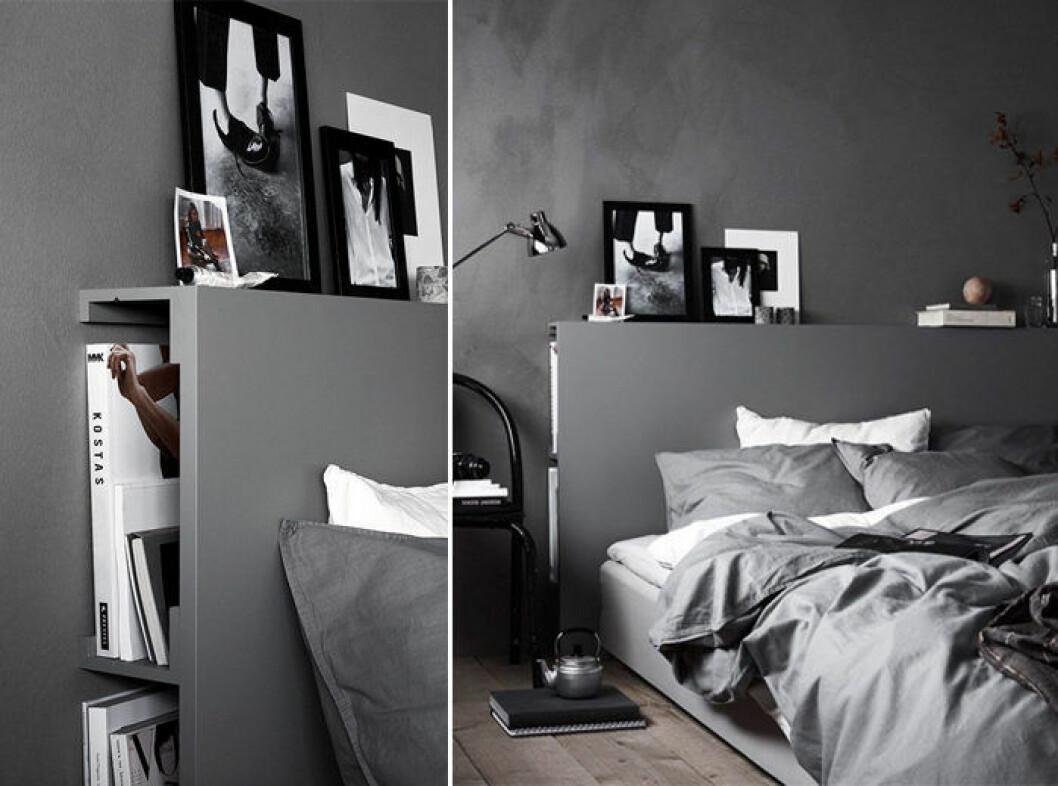 DIY-sänggavel med förvaring –ett enkelt Ikeahack