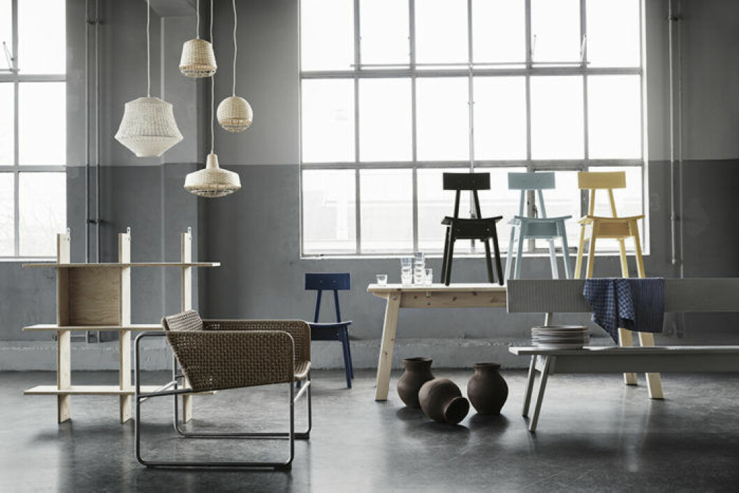 Ikeas kollektion Industriell, alla artiklar
