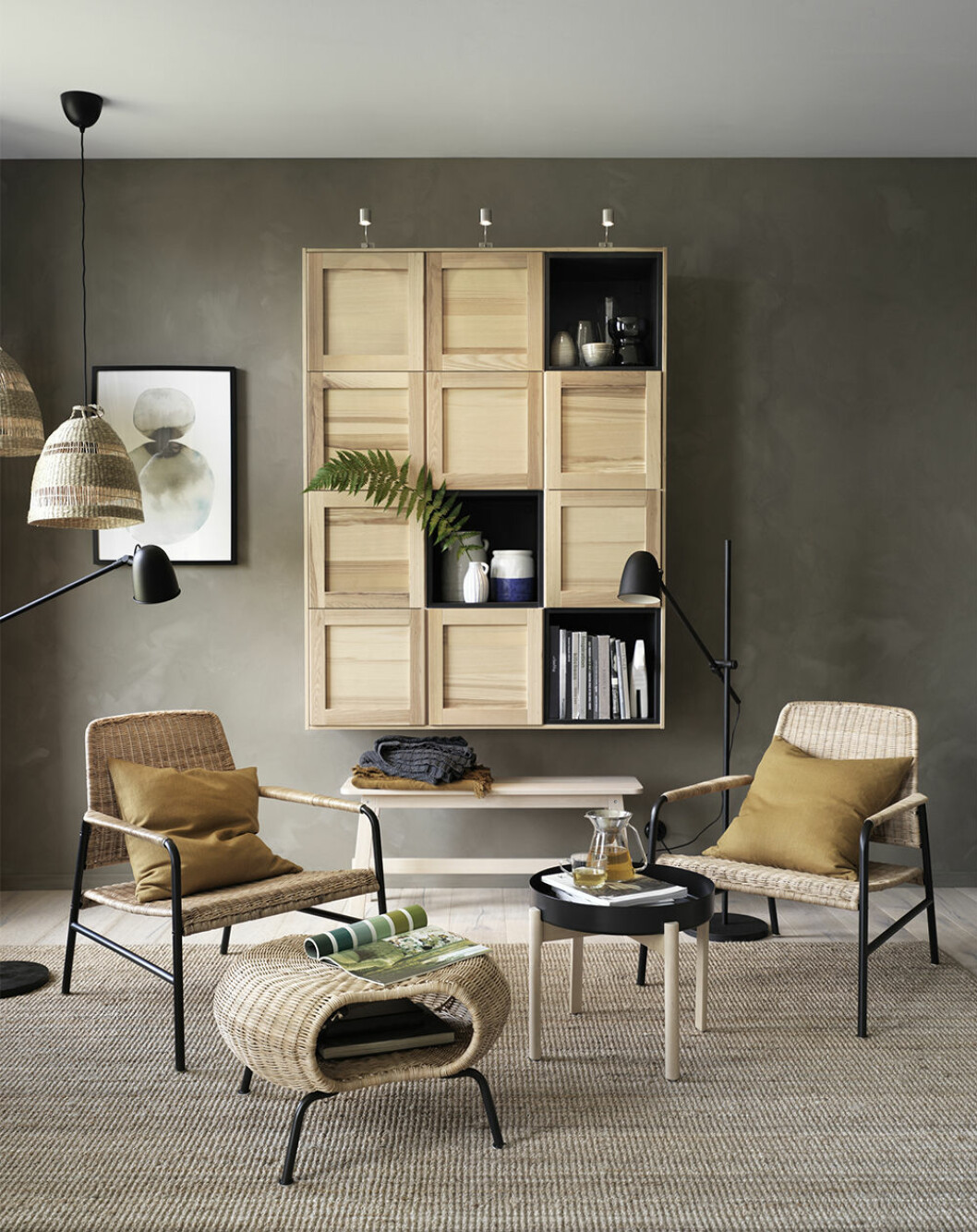 Detaljer och möbler i sjögräs från Ikea