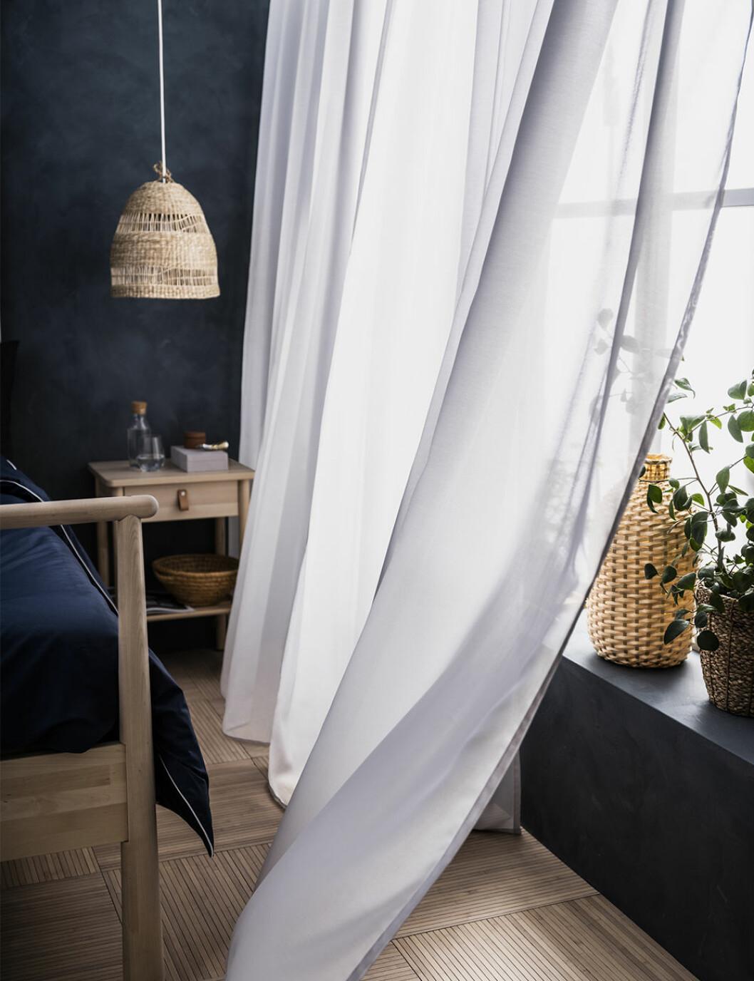 Miljövänliga och luftrenande gardiner från ikea