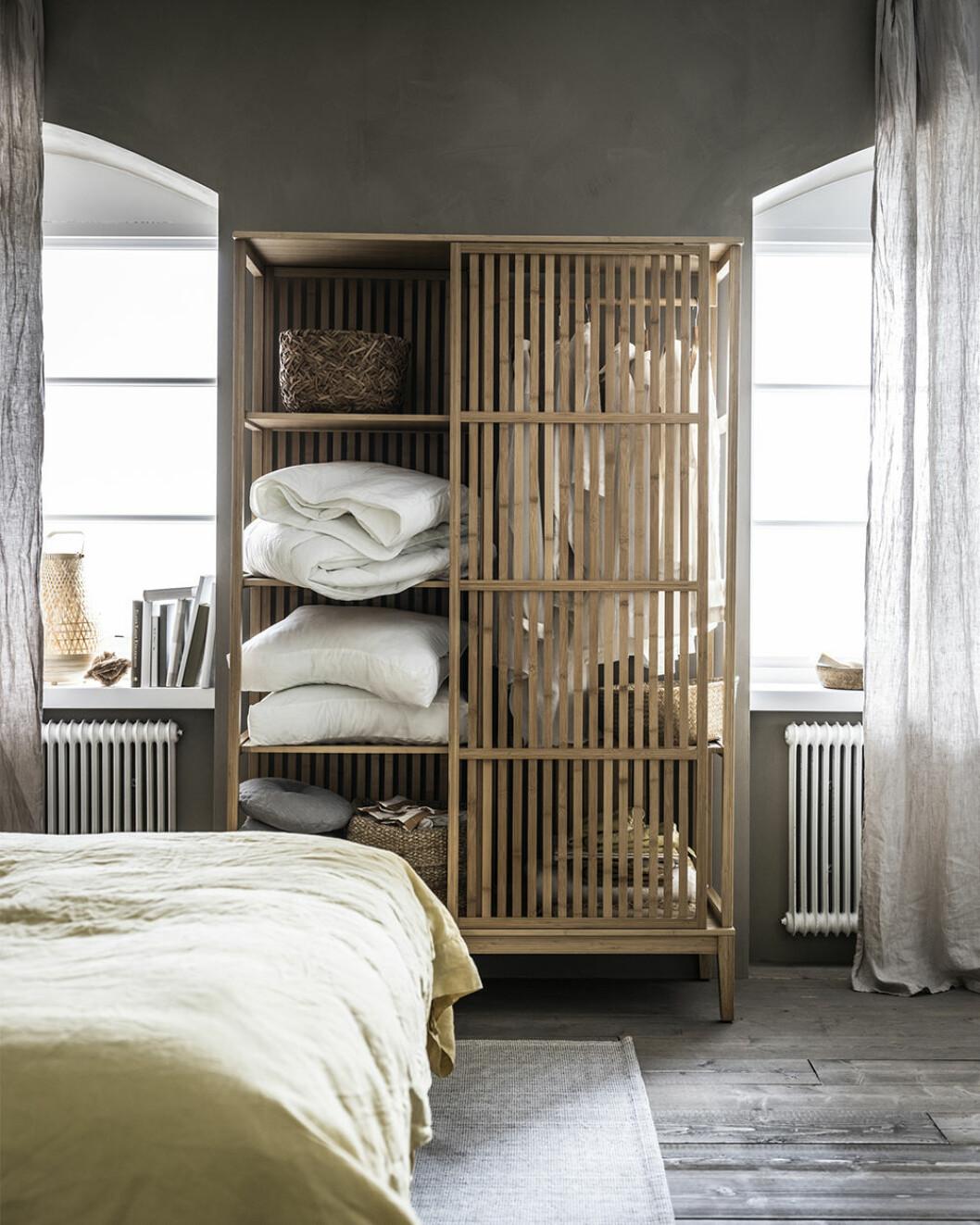 Snygg förvaring i bambu från ikea