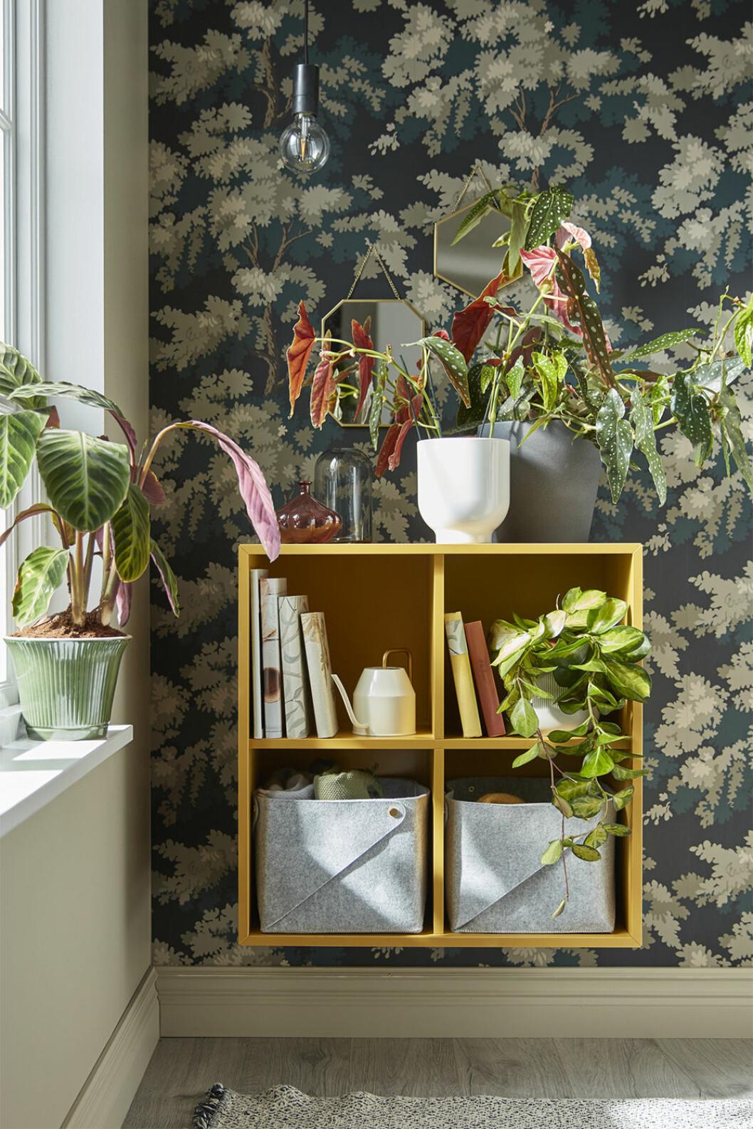 Gul förvaringshylla från Ikea