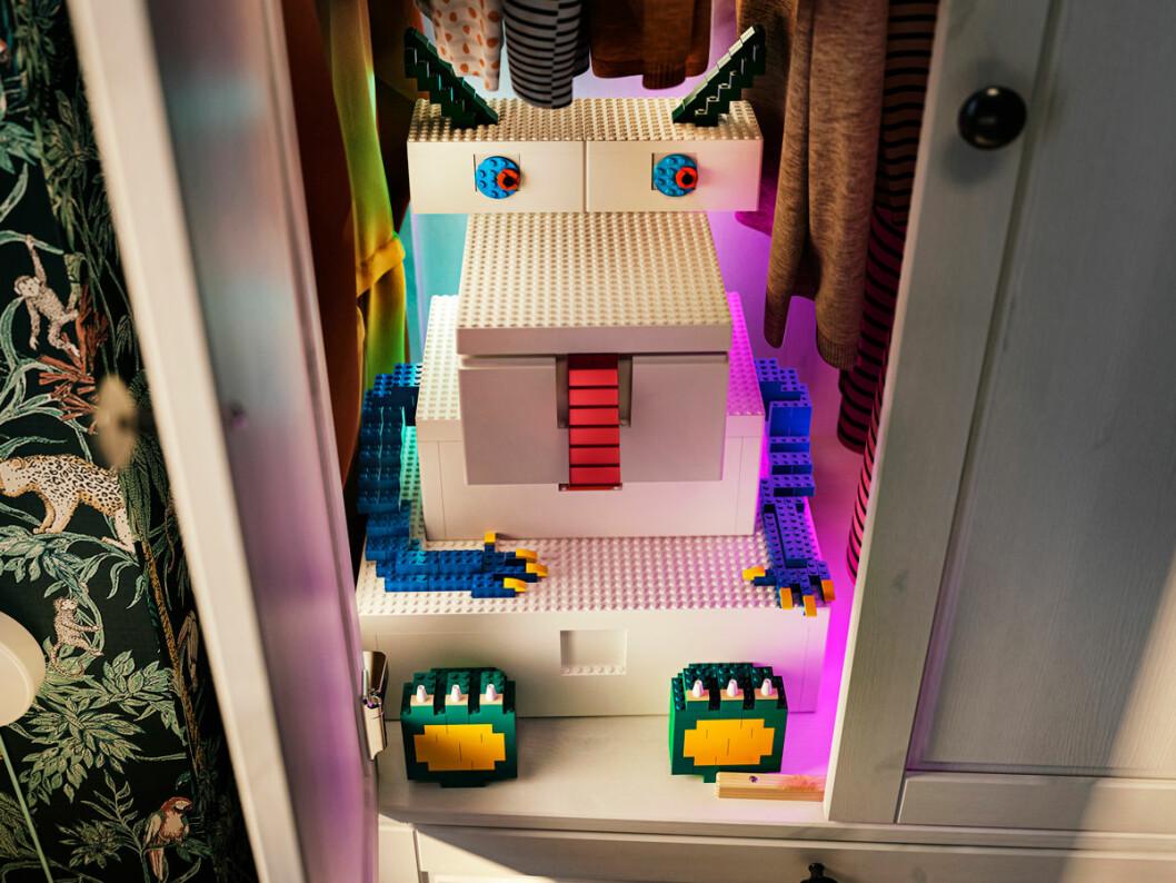 Ikea Lego samarbete bygglek klossar barnrum