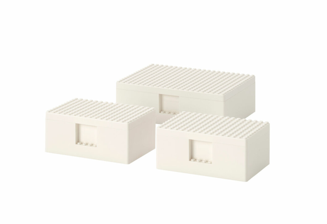 Ikea Lego samarbete bygglek klossar boxar