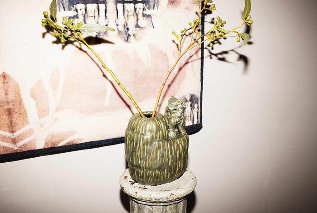 Grön vas från Ikeas nya kollektion.