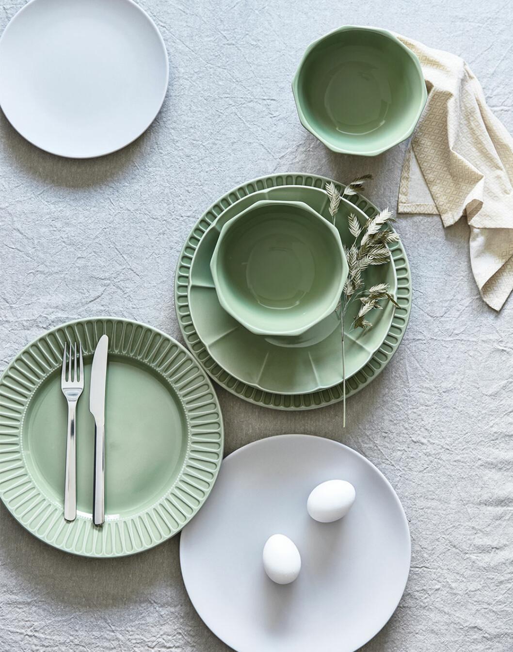Grönt porslin från Ikea våren 2020