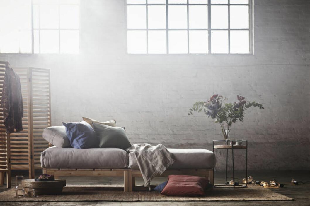 Möblerna är anpassade för att vi ska kunna vila.
