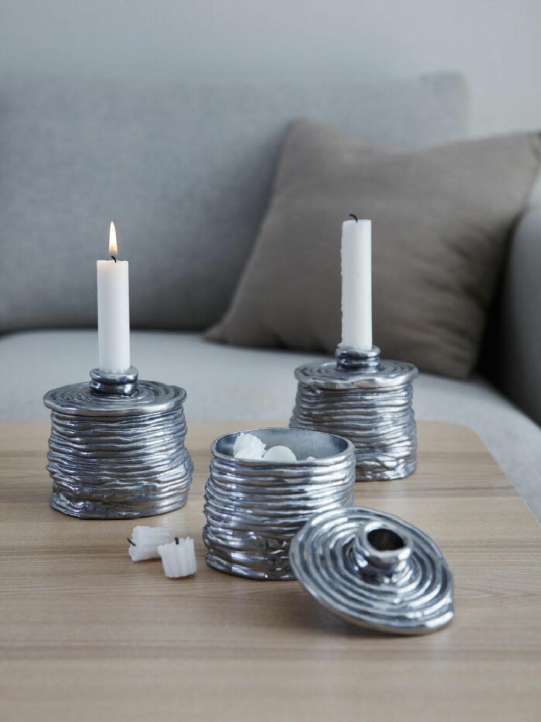 Ljusstakar med förvaring från Ikeas jul och vinterkollektion 2019