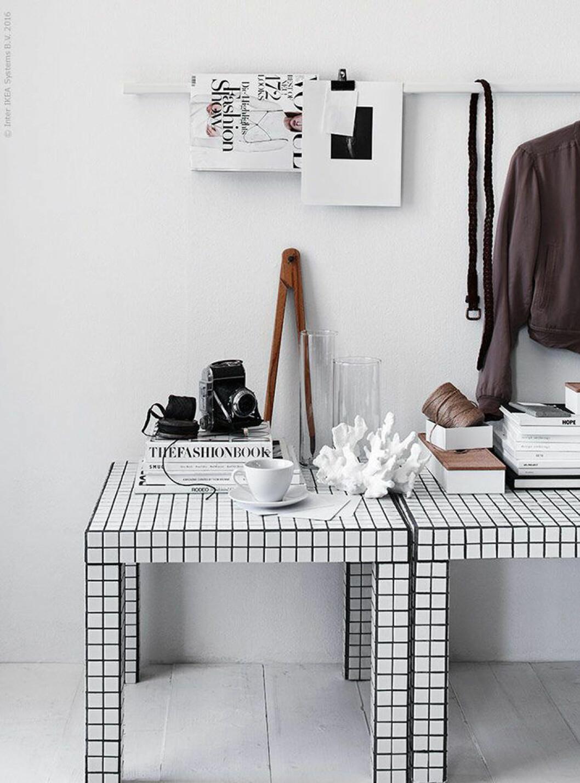 Ett billigt Ikeahack – DIY-soffbord med mosaik