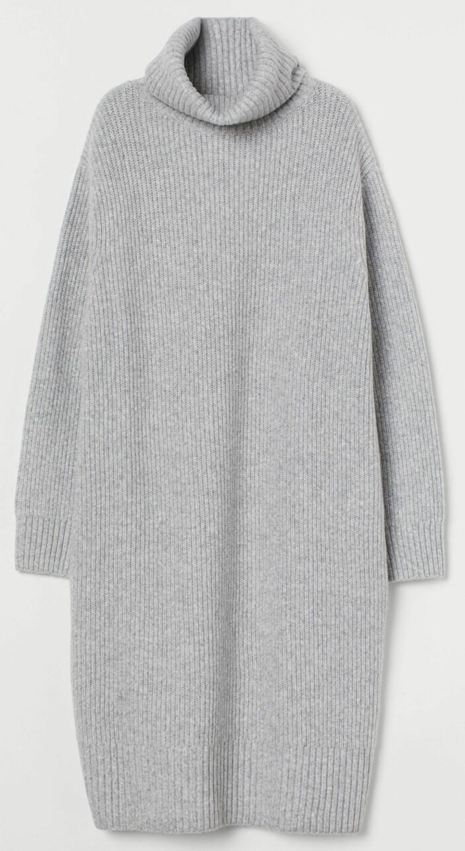 grå poloklänning från hm