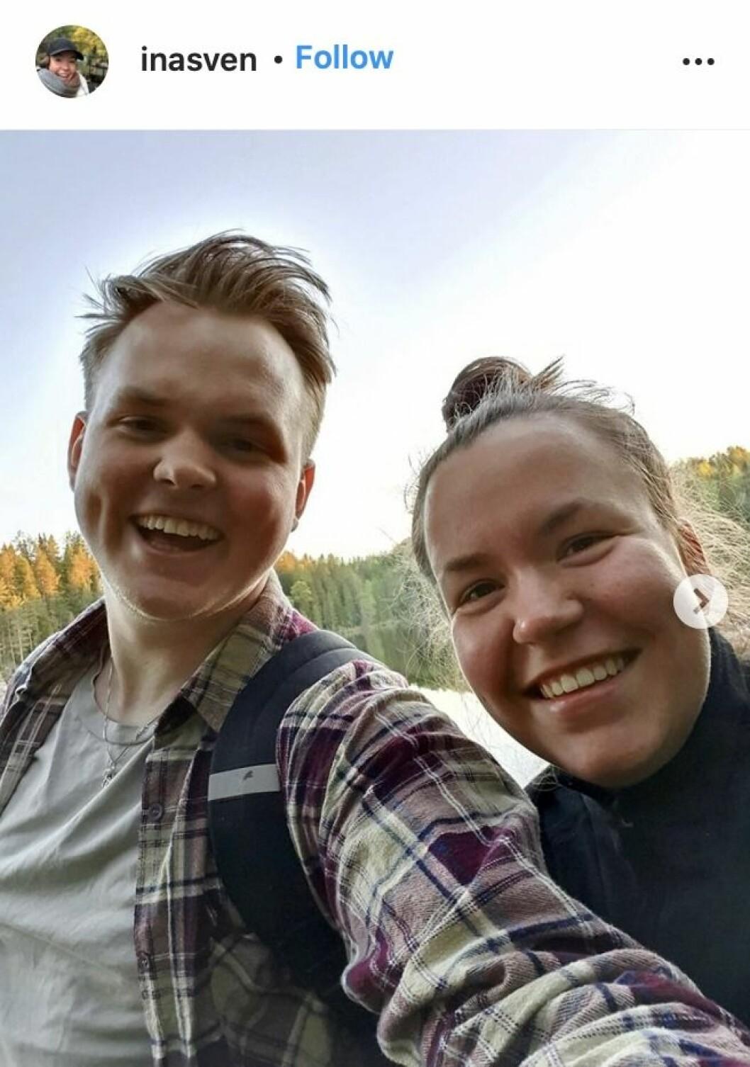 Ina Svenningdal från skam med sin pojkvän