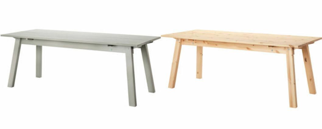 Matbord i grått och furu