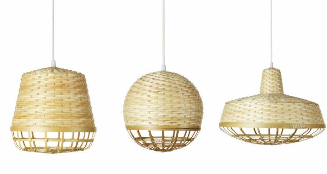 IKEA, Taklampa i klarlackad bambu