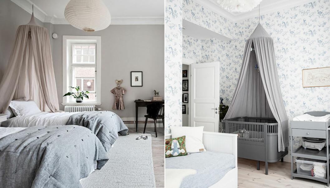 Inreda barnrum med sänghimmel – inspiration och idéer