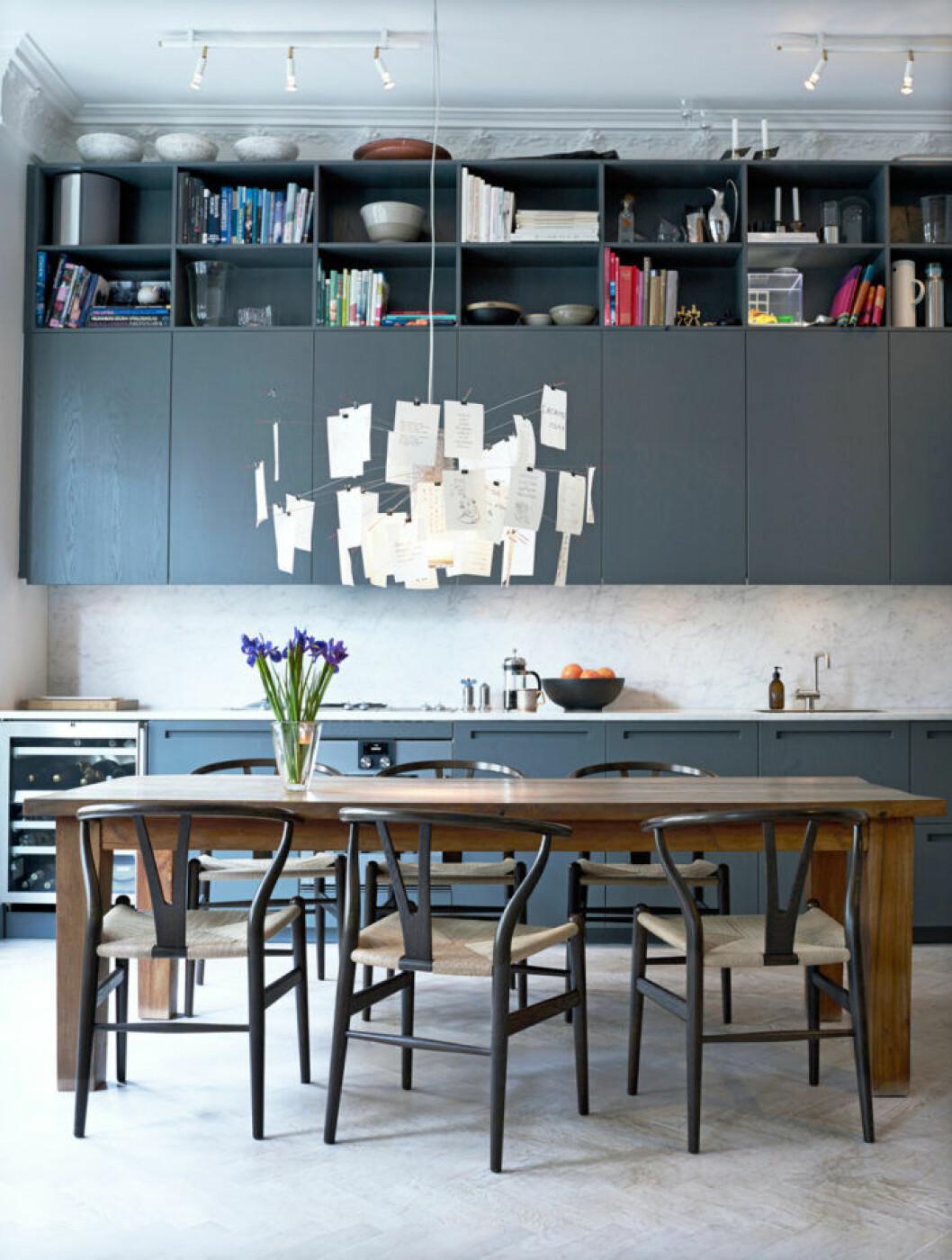 Köket i lägenheten på Kungsholmen.