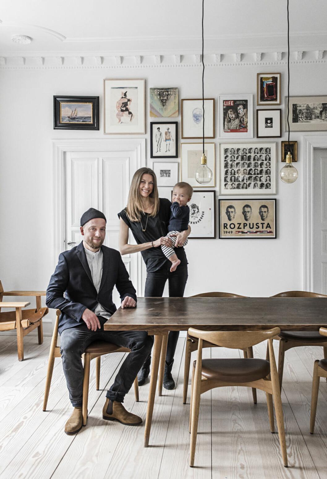 konstnären Kasper Eistrup och Marianne Mosbæk