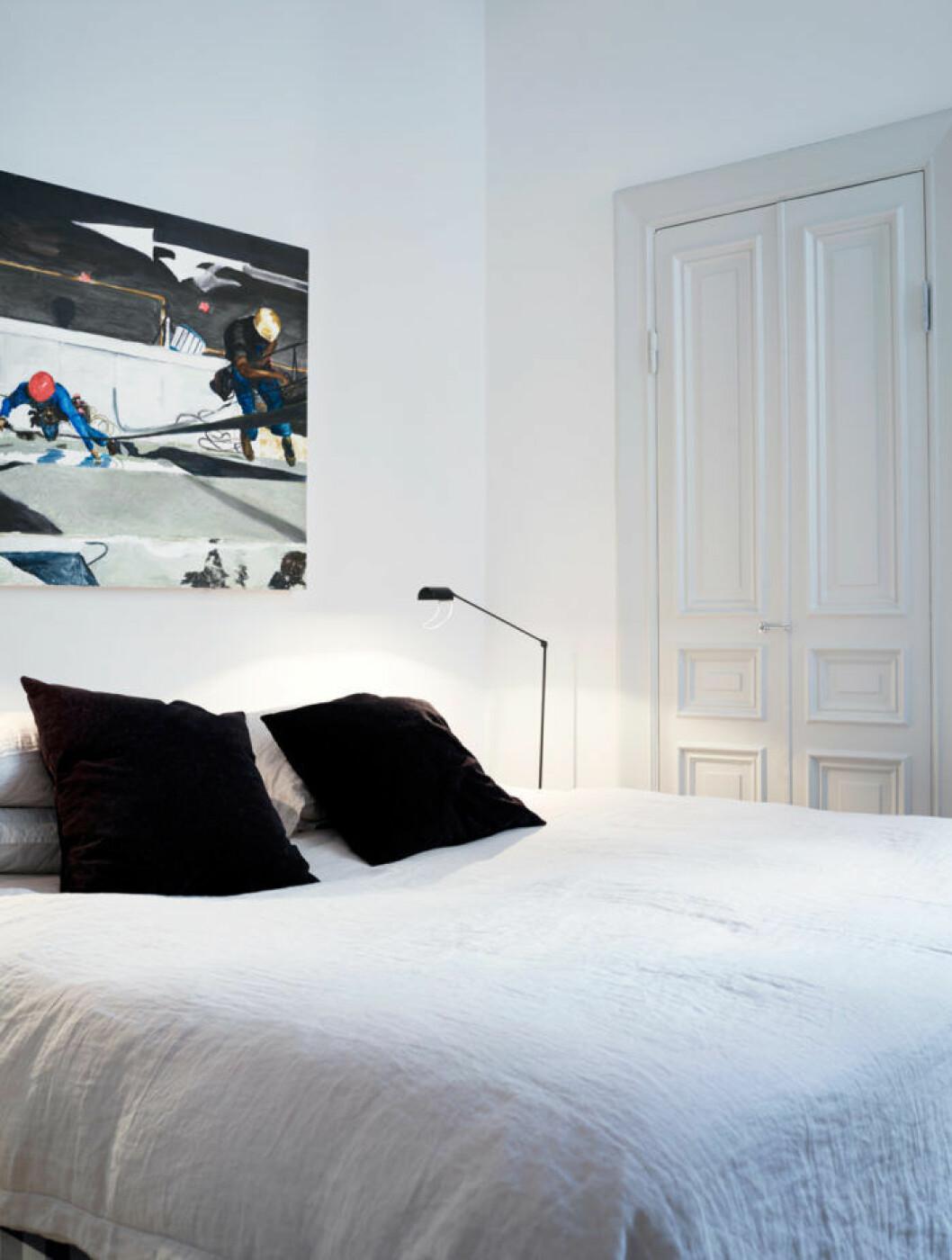 Sovrum i lägenheten.