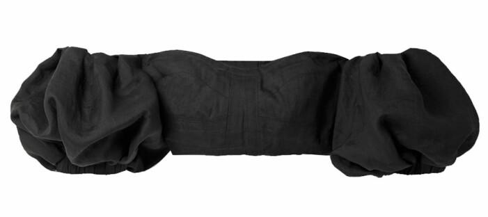 kort svart off shoulder-topp