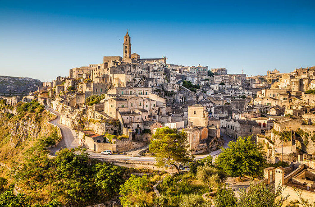 Vacker by i Matera, Italien