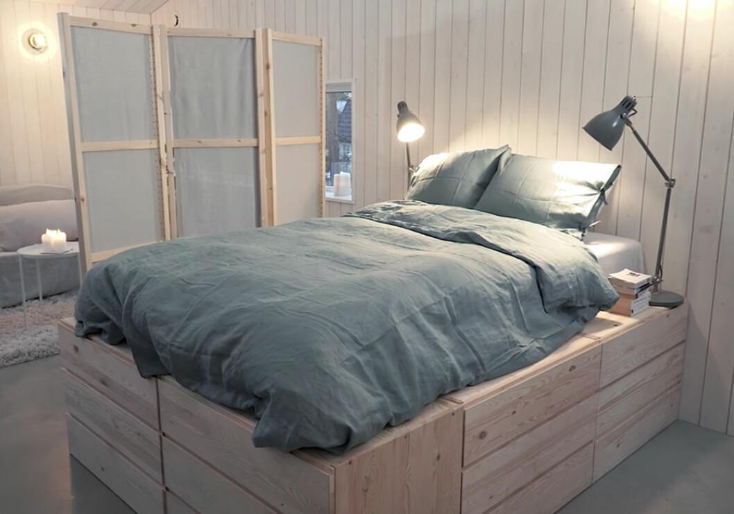 Säng med förvaring med Ivar från Ikea