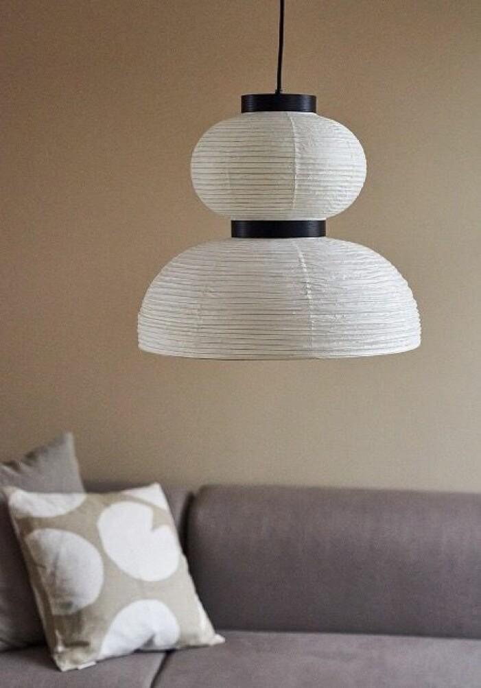 trendiga lampa av rispapper