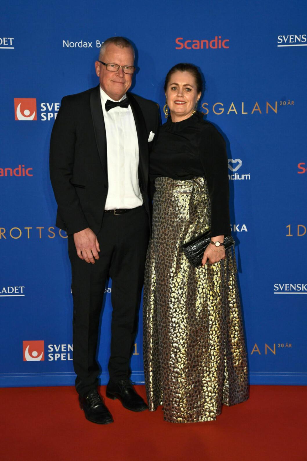 Röda mattan, Janne Andersson och frun Ulrika