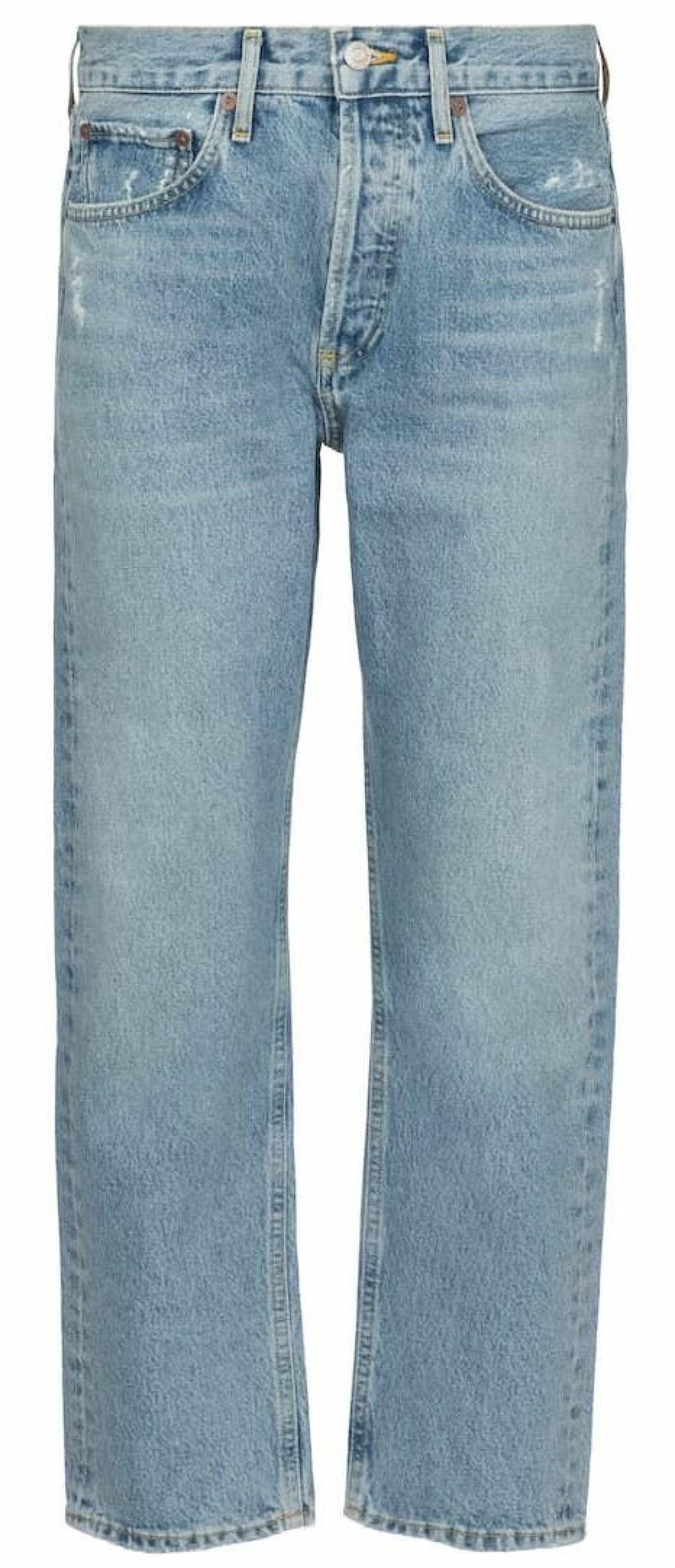 jeans från agolde i ljus tvätt.