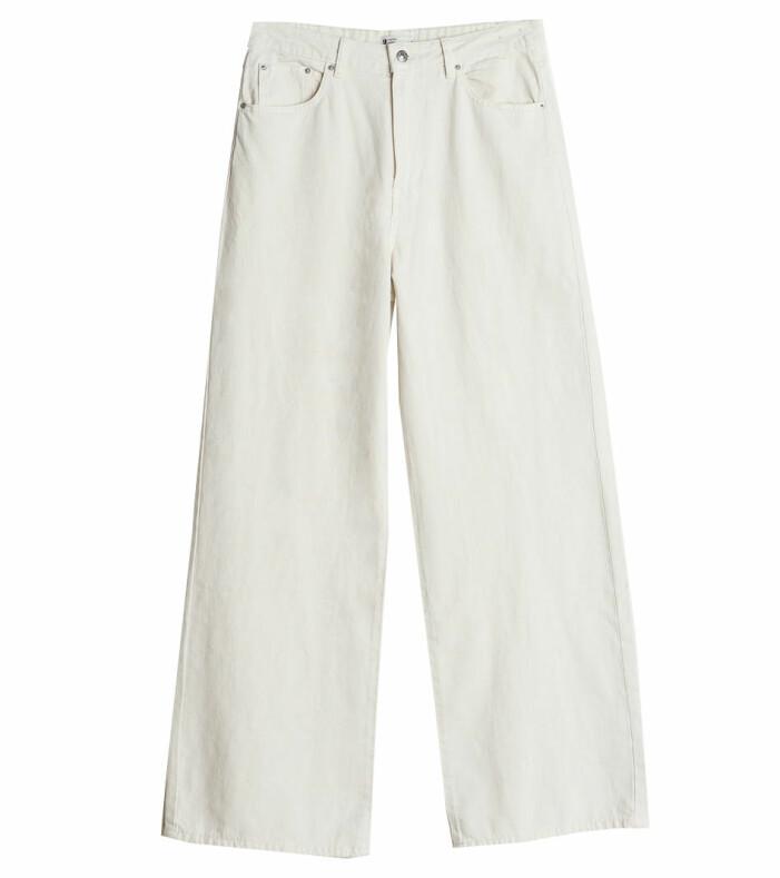 vita högmidjade jeans