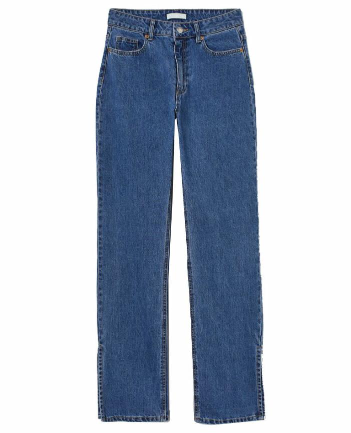 högmidjade jeans med slits