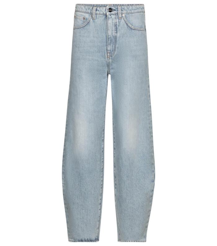 Jeans i ljus tvätt och avslappnad modell