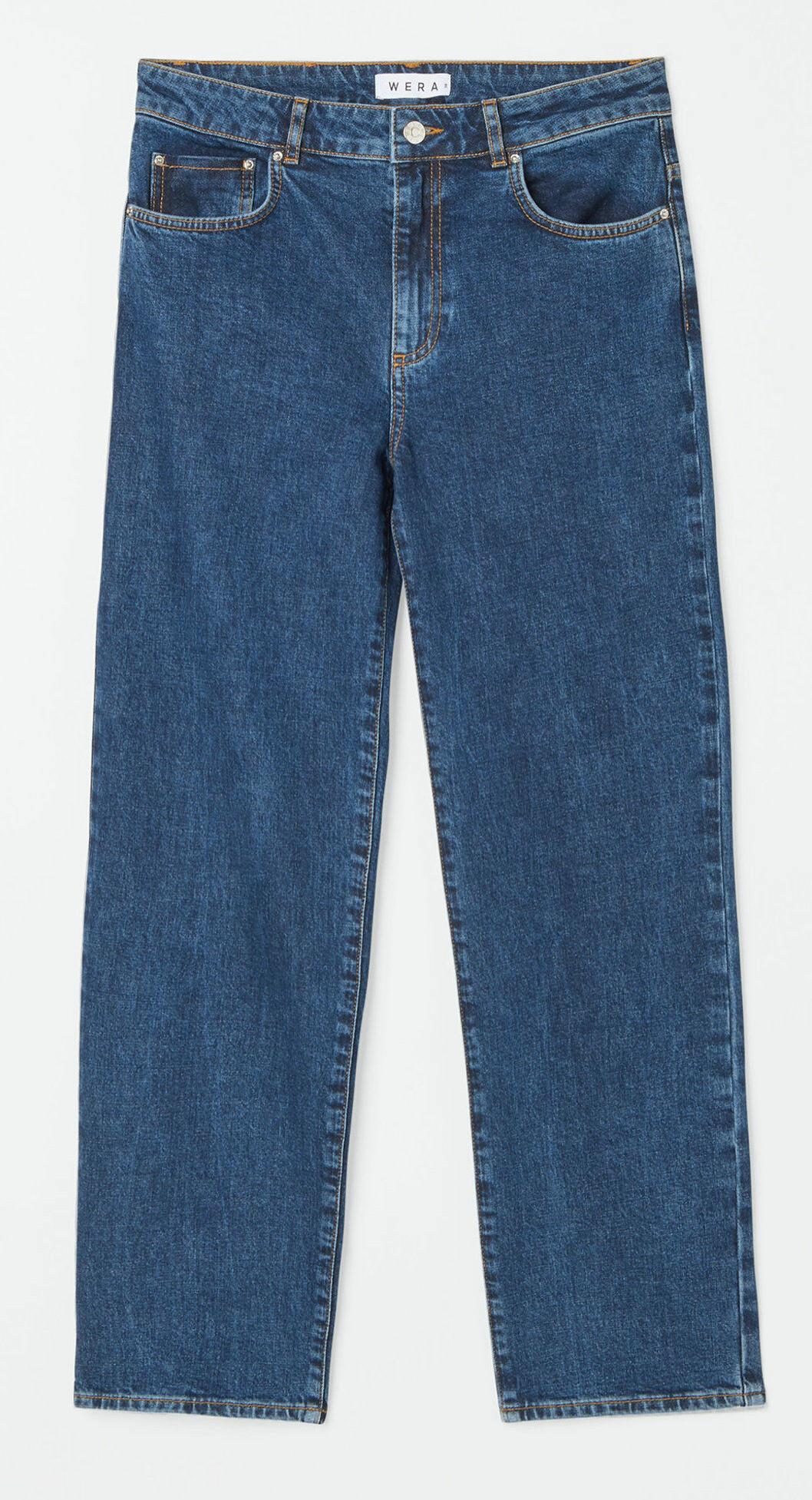 Jeans i en djup mörkblå tvätt från Wera
