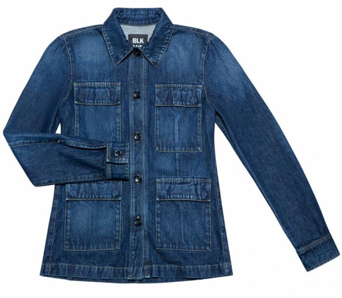 mörkblå jeansjacka från BLK DNM