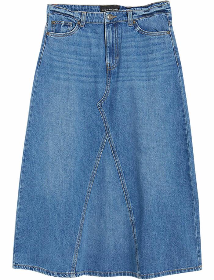 lång jeanskjol