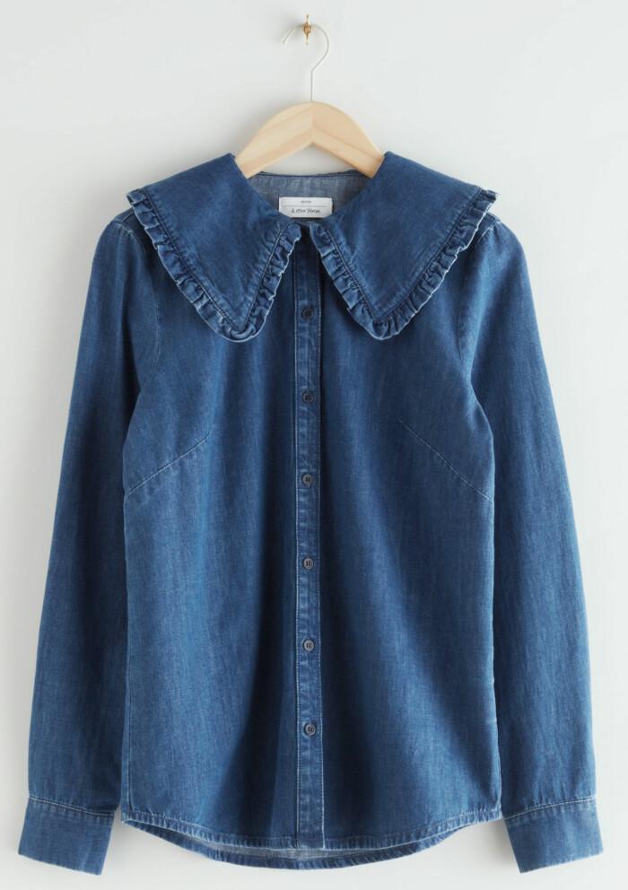 jeansskjorta med krage från & other stories.