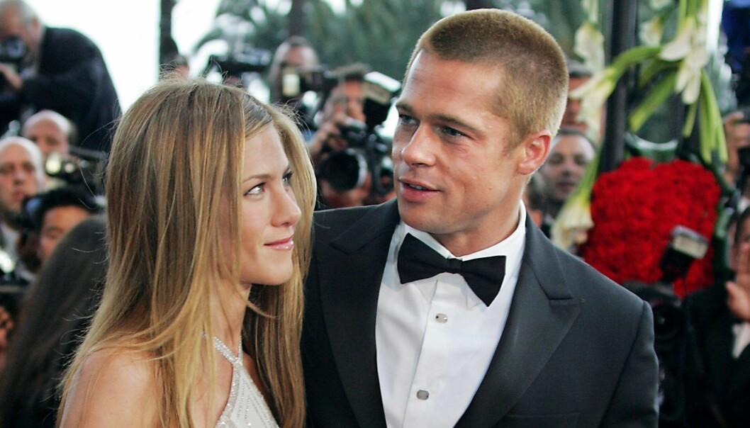 Brad Pitt och Jennifer Aniston på röda mattan