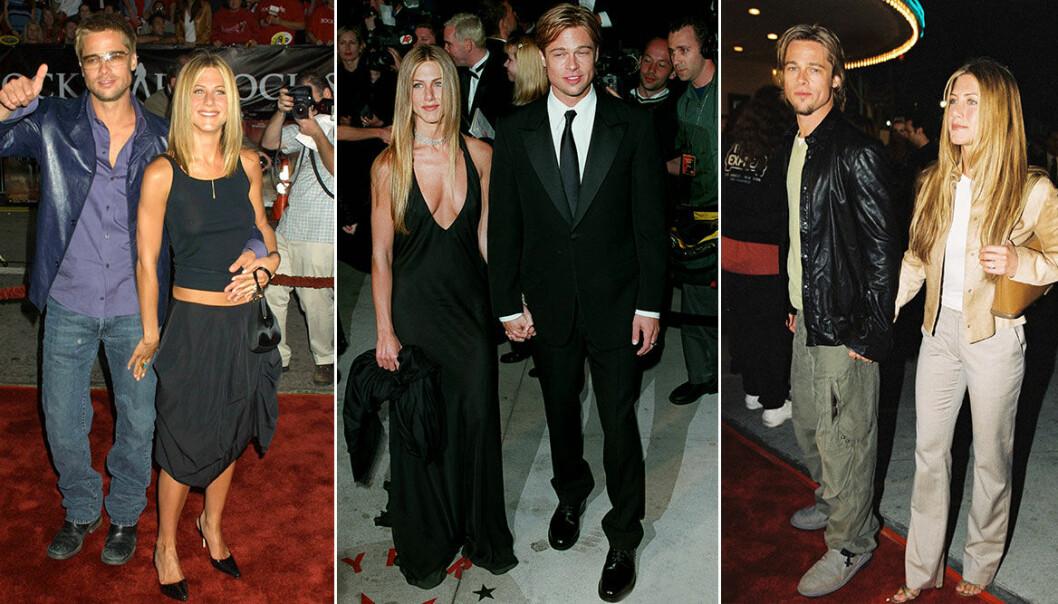 Stjärnparet Jennifer Aniston och Brad Pitts bästa stil från 00-talet