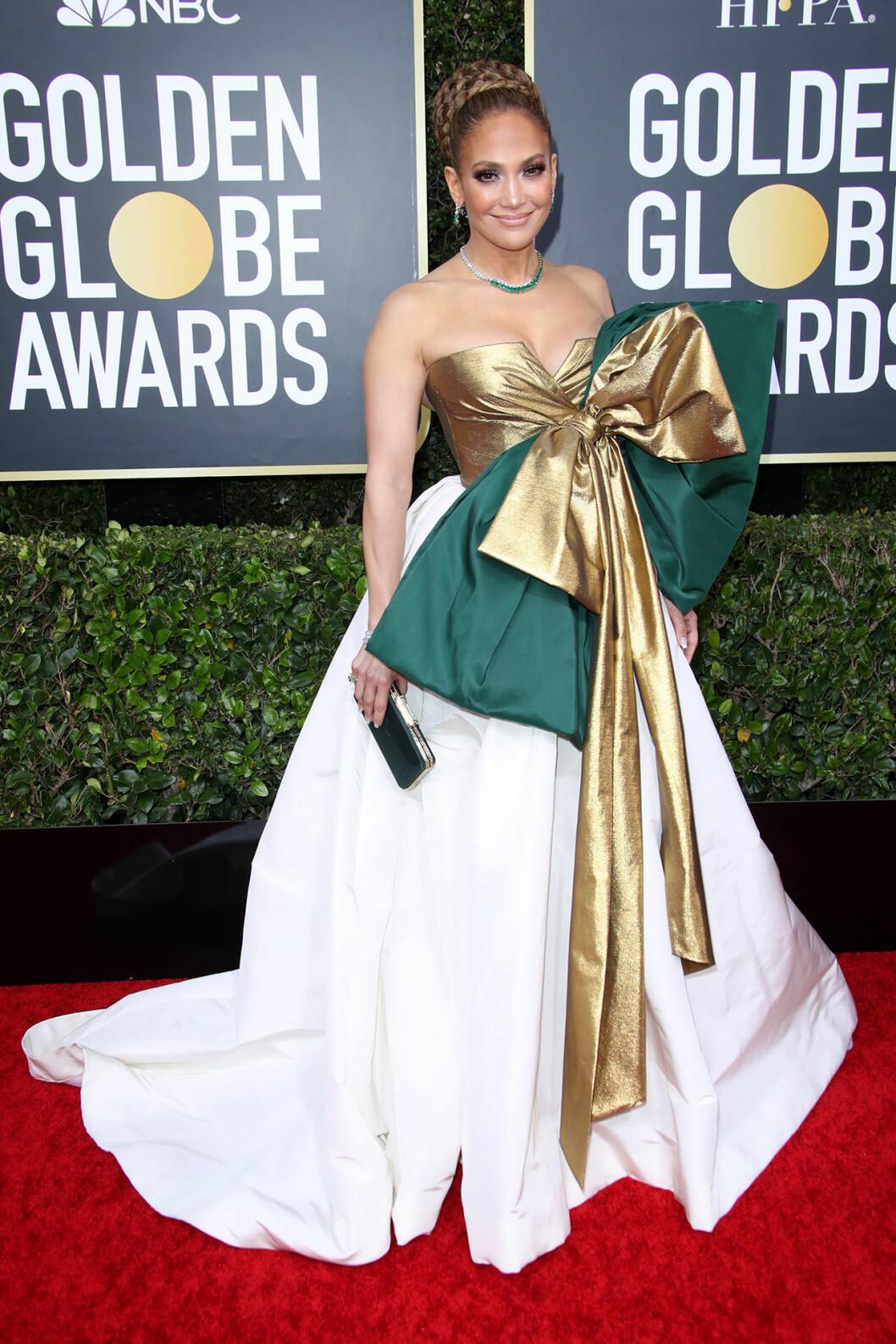 Jennifer Lopez på Golden Globes