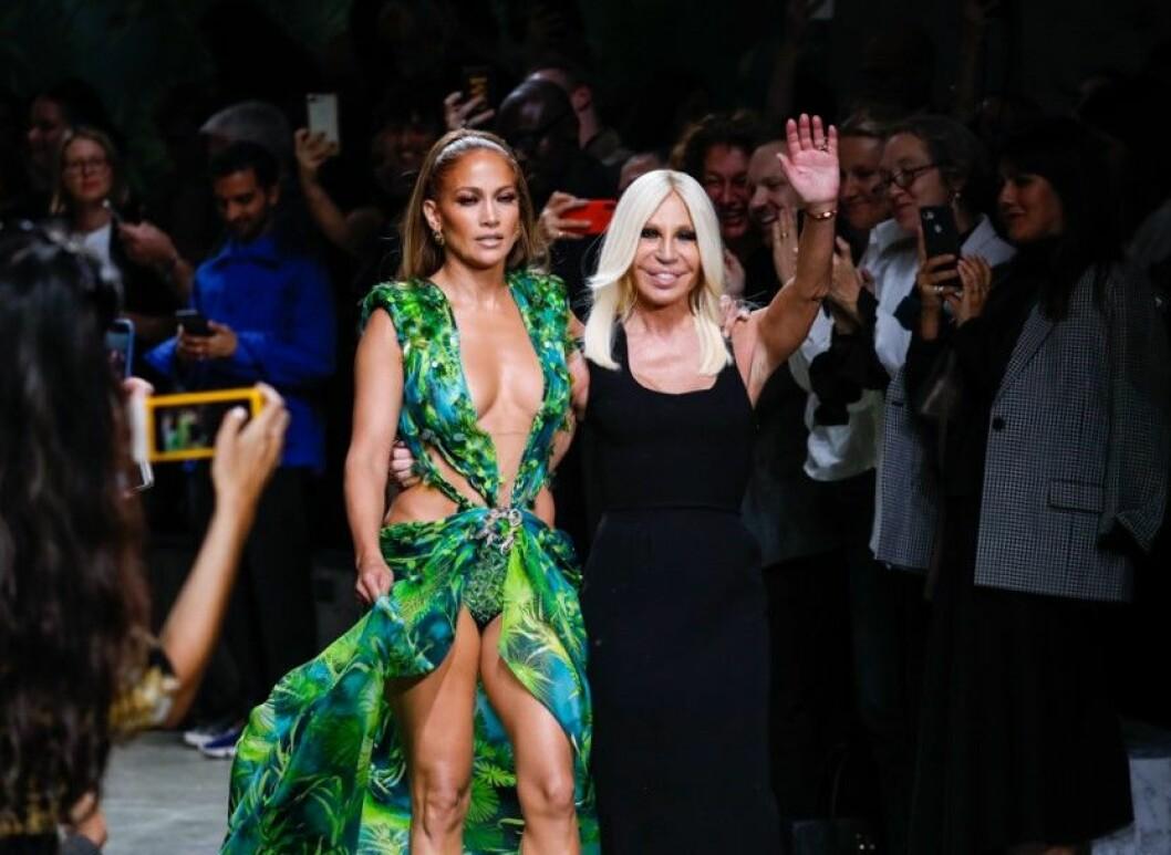 Jennifer Lopez grön Versace-klänning