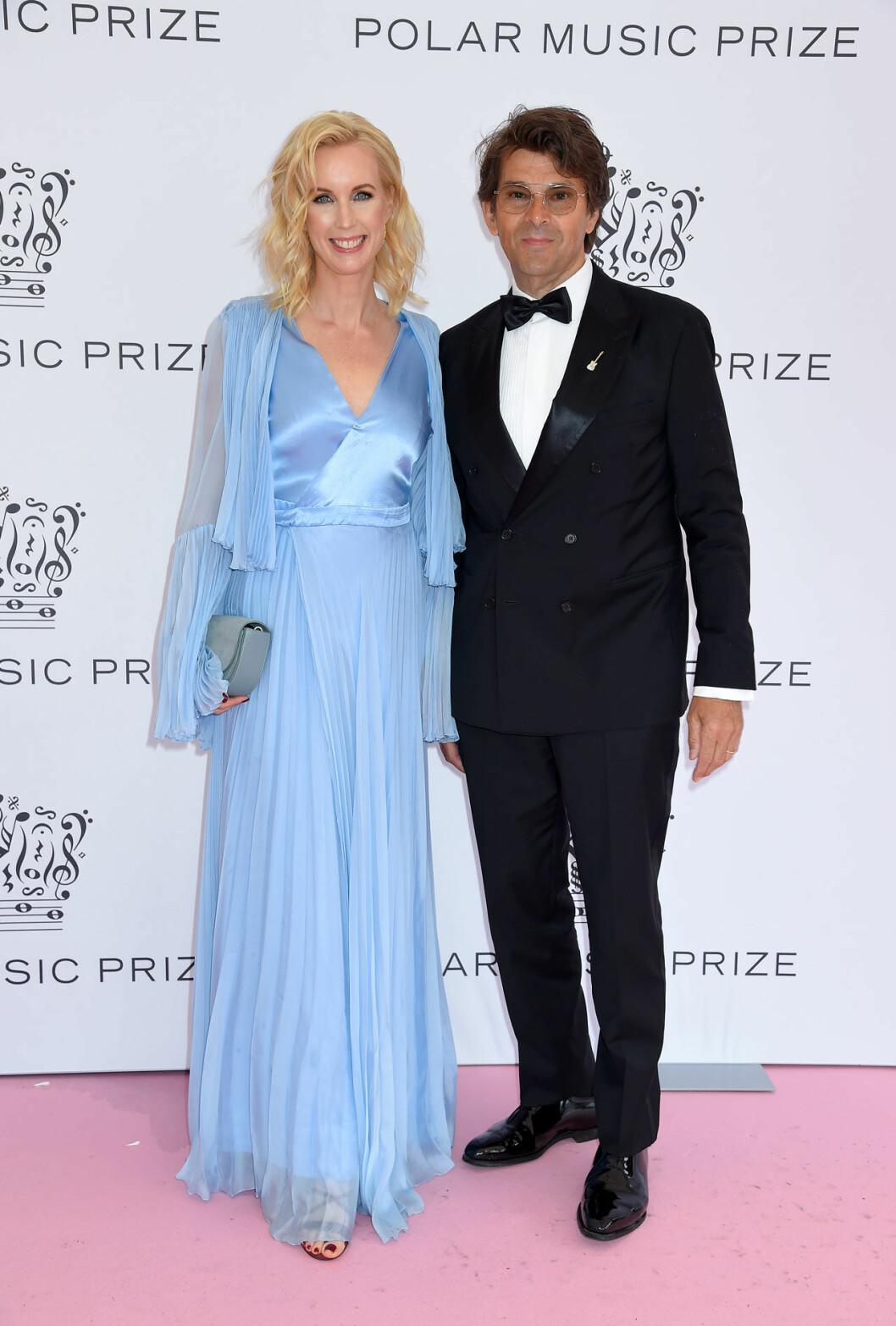 Jenny Strömstedt och Niklas Strömstedt på rosa mattan på Polarpriset 2019