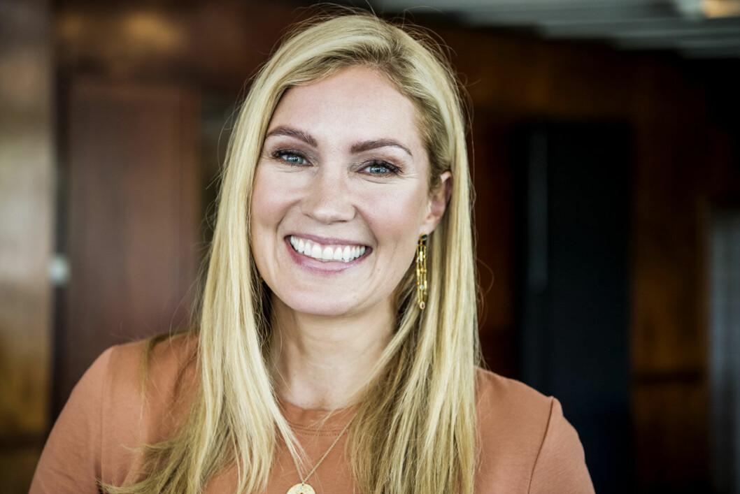 Jessica Almenäs och sambon Patrik fick barn när Jessica var 41 år
