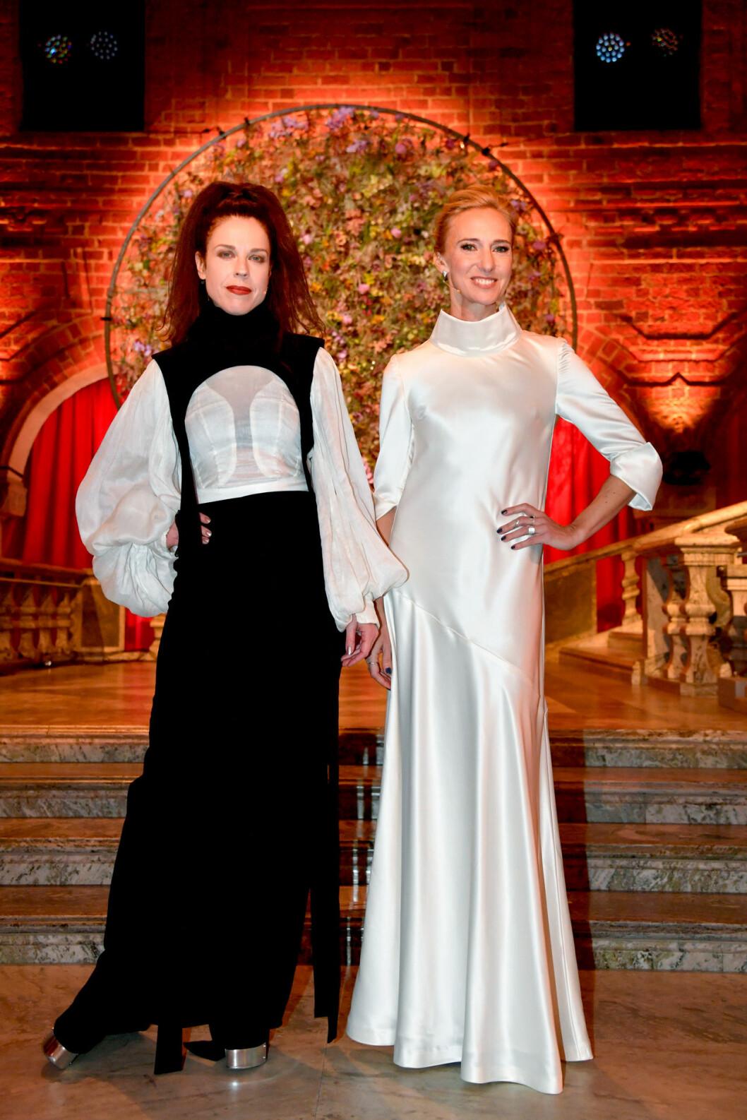 Jessica Gedin och Victoria Dyring på Nobel 2019