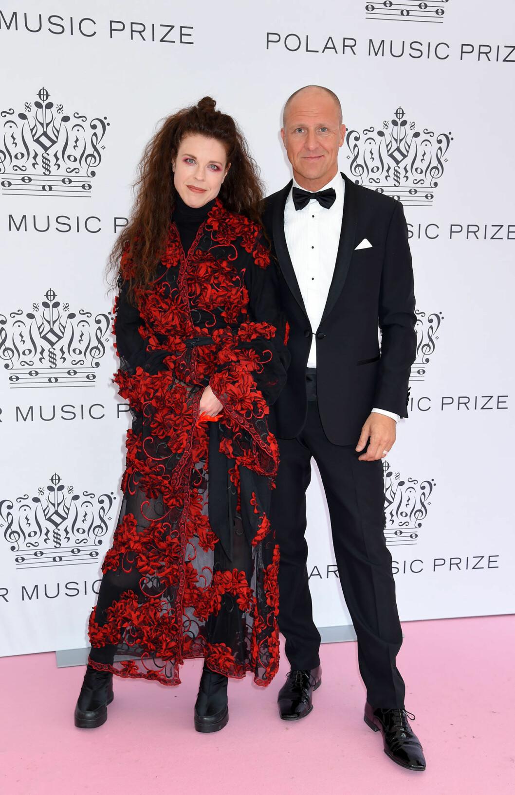 Jessika Gedin och Pål Hollender på rosa mattan på Polarpriset 2019