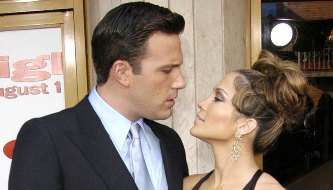 Ben Affleck och Jennifer Lopez på röda mattan 2003.